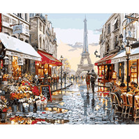 Wholesale Paint Number Impressionist Paintings - DIY Figure Painting Frameless Pictures Painting By Numbers Canvas Oil Painting On Canvas Eirope Wall Decor Paint