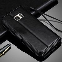 For Samsung case lower - low price vintage flip stand wallet leather card case mobile phone cover for Samsung Galaxy S7 Edge