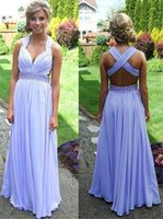 Wholesale Short Jeweled Dresses - Lavender Sequined Waist Ruched Prom Dresses 2016 Long Pleated Cap Sleeves Jeweled Chiffon Homecoming Dresses for Juniors