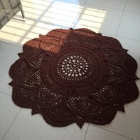 Wholesale Handmade Rugs Carpets - Children's Room Rug Carpet Handmade Crocheted Vintage Giant Doily Rug for Home Decor 1.5 Meter Carpets Welcome Customize Orders