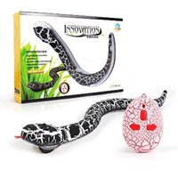 Wholesale Plastic Reptiles - IR RC Animals Rattlesnake Snake Centipede Bionic Reptile 3CH Infrared Remote Radio Control Snakes Chilopod Rattle Snake Tricky Brains Toys