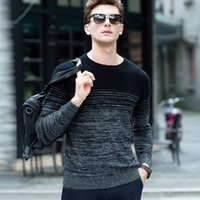Wholesale Men High Fashion Dress Clothes - Wholesale-High Quality Cashmere Sweater Men 2016 Brand Clothing Mens Sweaters Fashion Print Casual Wool Pullover Men Pull O-Neck Dress T