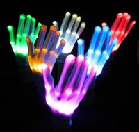 Gants LED Gants Halloween LED Cosplay Lighted Jouet Halloween Light Props Party Light Gloves Vente en gros Halloween Éclairage Jouets