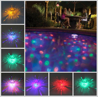 Großhandels-Neue LED-Unterwasser-Wasserdichtes haltbares Flash-Floating-Lampe Bad dekoratives Licht Disco Multi Color Party-Baby-Pool Spa Tub Birne