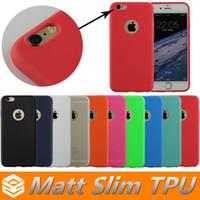 mate tpu iphone al por mayor-Matt TPU Ultra Thin 0.3 Estuche para iphone 8 7 6 6s Plus 5 SE Samsung Galaxy S6 S7 Edge Note 7 Estuche protector de silicona suave y transparente