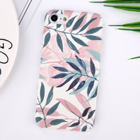 Fashion Plants Leaves Print Phone Case для iPhone 6 6S 6Plus 7 7plus Hard PC Matte Full Protect Back Cover