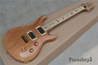 guitarra de embutir venda por atacado-OEM handmade personalizado cor de madeira Paul reed guitarra elétrica, abalone inlay maple fingerboard, frete grátis