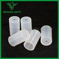 Wholesale Ego Tank Cover - 5pcs Rubber Mouthpiece Cover Drip Tip Disposable Silicon Testing Caps Rubber short ego Test Tips Tester Cap for 510-T Tank Cartridges