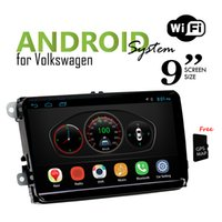 Wholesale 9 inch for Volkswagen Universal Android Headunit Car DVD with GPS Navigation Car Radio Wifi Bluetooth
