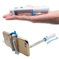 self portre selfie el çubuğu toptan satış-Mini 6 s Mini Kablolu Özçekim Sopa Evrensel Uzatılabilir El Mini Cep Sansung S7 S6 Kenar için Portre Monopod HTC için iphone 7 için 7