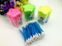 Wholesale makeup tools cotton swab - box Cotton swab Heart shape Health care cotton tipped heart box makeup tools color small boxed cosmetic cotton buds GYH