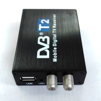 Wholesale Dvb Mobile - High Speed car TV box Double Antenna Car DVB T2 Mobile Digital TV Box External USB DVB-T2 Car TV Receiver