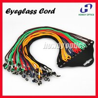 Wholesale Spectacle Rope - Wholesale-120pcs Quality Colorful spectacle glasses eyglasses cord chain holder rope Black Red Blue Orange Green Brown Free Shipping GC-A2