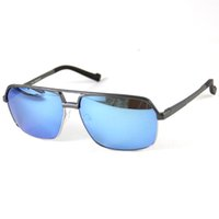 gafas de sol azul al por mayor-Gafas de sol polarizadas Grey Alloy Frame Gafas Gafas Gafas Deportes Sun Glasses Shade Point Leer UV Driving Spring Temple Blue Coating