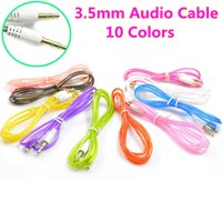 Wholesale Stereo Adapter Cable - Male to Male 3.5mm Crystal Stereo Audio Cable Adapter For Mobile Phone Tablet PC MP3 Mp4 Player Car Stereo AUX Cable Wire