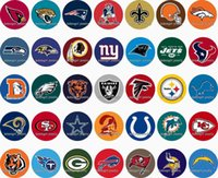 Wholesale Wholesale Character Buttons - Free shipping Sport FOOTBALL 35pcs   lot glass snap button jewelry charm popper for bracelet GL1083 jewelry making DIY