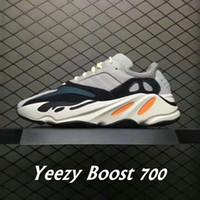 Wholesale Multi Color Women Shoes - 2018 With Box Adidas Yeezy Boost 700 Originals Retro Running Shoes Men Women B75571 Stitching Color Top Quality Athletics Sneakers US 5-11