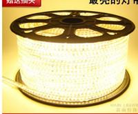 гибкая светодиодная лента оптовых-SMD5050 привело гибкий свет 60leds / m привело строку ленты лампы 6 цветов Cuttable светодиодные полосы с вилкой питания водонепроницаемый AC220V