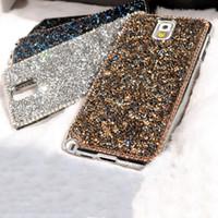 cubre estilo galaxia nota al por mayor-Al por mayor-Nuevo estilo Moda textura Lujo Bling Rhinestone Shards diamante cubierta trasera bonita caja del teléfono para Samsung galaxy Note 3 Note 5