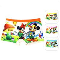 Wholesale Cartoon Boxers Shorts Wholesale - Girl kids Underwear Short Pants Cutest Cartoon Panties Children Soft Cotton Children Briefs Girls Panties Children Boxer