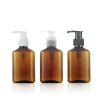 Wholesale Brown Shampoo - Empty Brown Liquid Soap Lotion Pump Plastic Bottles,125ML Refillable Shampoo Bottle, Empty Cosmetic Containers F20171995