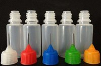 Wholesale E Liquid Filled Bottles - 30ml Empty Plastic Filling Bottles LDPE Squeezable Liquid Dropper E-Juice Needle Tip PE Needle Dropper oil bottles