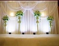 hochzeit decke drapieren großhandel-Neue 3 * 6 mt Hochzeit Party Feier Satin Satin Vorhang Drapieren Säule Decke Hintergrund Ehe dekoration Schleier