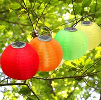 Wholesale hanging chinese lanterns lights for sale - Solar Lantern Lights Christmas Light Solar Powered Chinese Lanterns Garden Light Wedding Holiday Waterproof Laterns Outdoor Hanging Lights