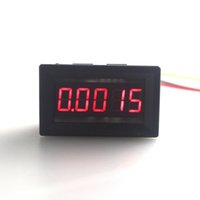 "Wholesale Led Display Panel Dc Voltage - Wholesale-Mini Car LED Display Digital Voltmeter DC 0-30V 0.36"" 5 Digit Voltage Panel Meter Red 3 wires High Accuracy Free Shipping"