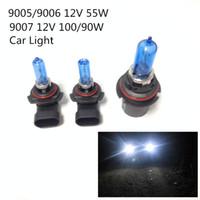 Wholesale Car Xenon Auto Lamp - 2pcs 12V 100 90W 9007 55W 9005 9006 Ultra-white Xenon HID Halogen Auto Car Headlights Bulbs Lamp Auto Parts Car Light Source Accessories