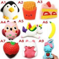 Wholesale Kid Children Cell Phone - Squishy Toy pegasus penguin Slow Rising 10cm 11cm 12cm 15cm Soft Squeeze Cute Cell Phone Strap gift Stress for children Decompression toys
