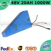 Wholesale Electric Bicycle Ebike - Lithium 1000W 48V 20Ah ebike Battery Triangle Electric Bicycle Battery 48V Built-in 30A BMS With 54.6V 2A Charger FreeShipping