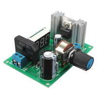 medidor de pasos al por mayor-¡Promoción! Regulador de voltaje ajustable LM317 Módulo de fuente de alimentación descendente Medidor LED