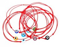 Wholesale Religious Free - Free Ship 100pcs Red String Evil Eye Lucky Red Cord Adjustable Bracelet NEW