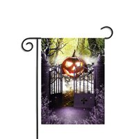 Wholesale Witch Decor - Halloween Flags Pumpkin Witch Bat Decor Polyester Banner Decorative Decoration Party Home Garden Indoor Accessory Ornament Bar Flag