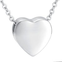 Wholesale Family Specials - IJD9952 Polishing Heart For Ashes Free Engrave Ash Keepsake Necklace Family Pet Jewelry Urn Necklace Special Offer