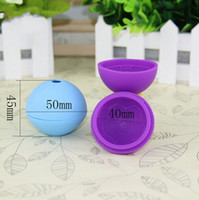 Wholesale brand drinks - Free shipping-100pcs lot-New Brand Football Shape Ice Ball Mold Maker Party Bar Drink Silicone Round Shape Trays BPA Free #01