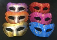Wholesale painting birthday parties for sale - Group buy 2017 new factory direct selling spray painted flat head mask Halloween party birthday festival
