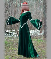 Wholesale Global Movies - Wholesale-HOT!! Global FreeShipping Fantasy Green Dress Medieval Dress Party Renaissance Dresses Elven Dress Costumes
