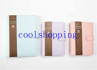Wholesale Business Binders - Macaron leather spiral notebook Original office personal diary week planner agenda organizer Cute ring stationery binder A6