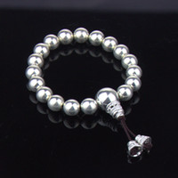 Wholesale Jewelry Adjustable - 999 Sterling Silver Size Adjustable Silver Ball Beaded Bracelet Silver Bracelets Mix Jewelry Wholesale Free Shipping YSB006