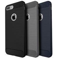 Wholesale iphone carbon fiber bumper - Carbon Fiber Texture Cases For iPhone7 7 Plus Cool Scratch Drawbench Slim Hard Bumper Anti-Drop Protection Armor Cases For Apple iPhone 7