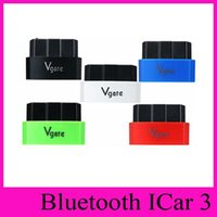 Wholesale obd2 bluetooth ios resale online - Vgate iCar3 Bluetooth Diagnostic Interface OBDII OBD2 ELM327 iCar Bluetooth Vehicle Detection Instrument For Android IOS New Arrival