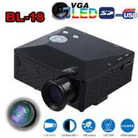 Wholesale video game education online - BL Mini LED Projector Lumen HDMI Full HD Portable Pico LCD Home Theater Multimedia AV VGA SD USB HDMI Beamer Games Proyector Free DHL