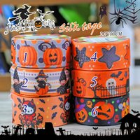 Wholesale Decorating Masks - Happy halloween 2.2cm * 100cm Adhesive Tapes silk tapes for packing decorate masking factory price(2)