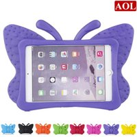 Wholesale ipad air case print - For new iPad 2017 pro air 2 3 4 mini Shockproof Case Cartoon Kids Safe 3D Butterfly Stand Back Cover Soft EVA Shell