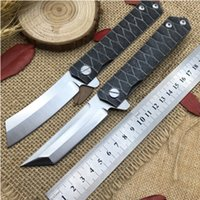 Wholesale Styling Razor - 2018 new Kwaiken Ball Bearing Flipper folding knife tactics survival knives tanto D2 blade Japan razor style outdoor EDC pocket tools