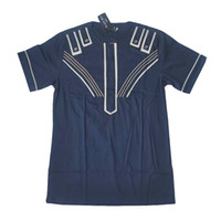 Wholesale Ethnic Clothes Men - BLACK MEN TURKEY Dashiki 2017 New Fashion Men shirt Short Sleeve African Clothing Cotton Printed shirt Ethnic Clothing