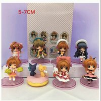 Wholesale Action Figures Display - 8pcs set 6cm Anime MoKa girl cherry Sakura key display PVC Action Figures Toys Christmas gifts PABIToyFirm.