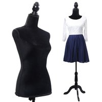 Wholesale Mannequin Dress Forms - Black Female Mannequin Torso Dress Form Display Black Tripod Stand New